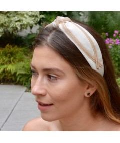 Natural Linen Headband by Jennifer Ouellette