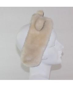 Ivory with Black PANDA Bear Earmuffs
