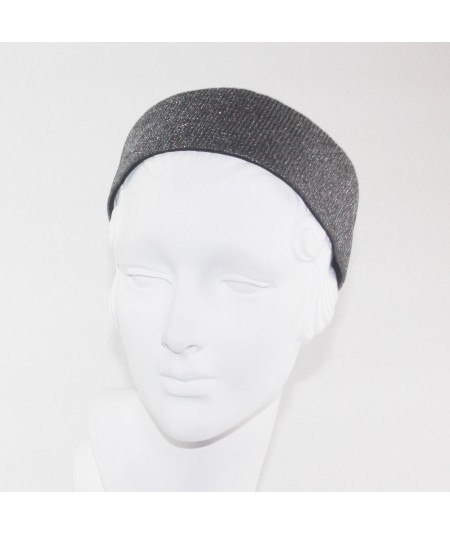 Dark Silver Metallic Tulle Headband