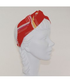 Red Lines Printed Turbanista