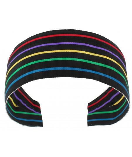 Jennifer Ouellette Retro Stripe Headband - Black Multi