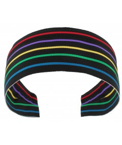Jennifer Ouellette Retro Stripe Headband - Black Multi