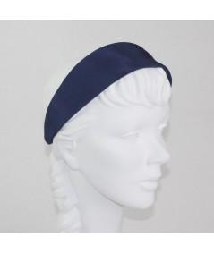 Navy Bengaline Wide Headband