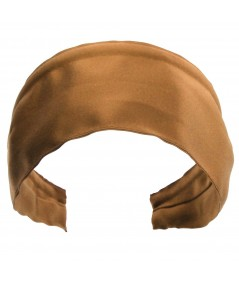 Basic Extra Wide Satin Headband - Bronze