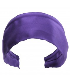 Basic Extra Wide Satin Headband - Purple