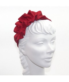 Cardinal Bengaline Side Ruffle Headband