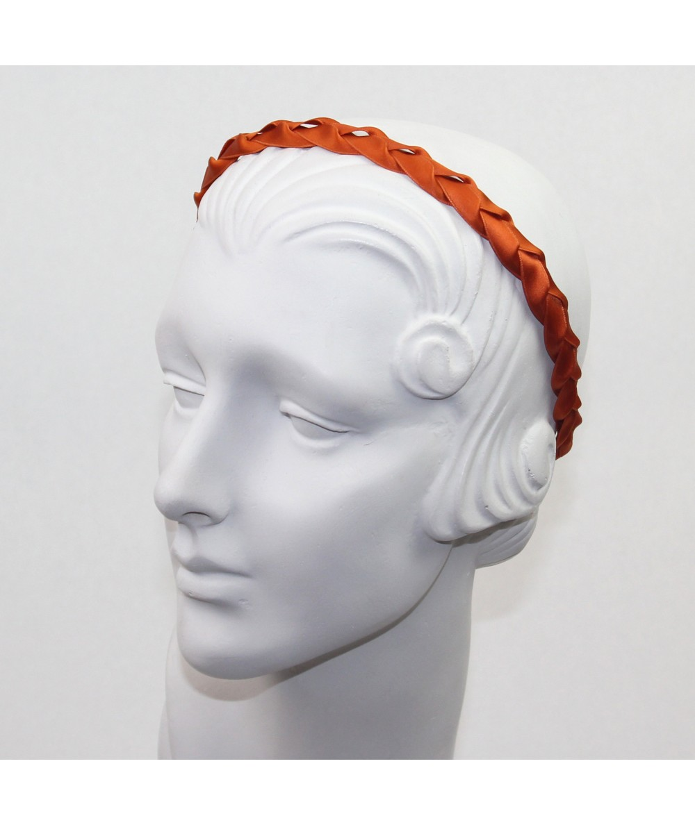 Copper Satin Braided Headband