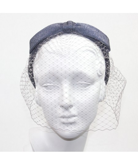 Metallic Bow Face Veil
