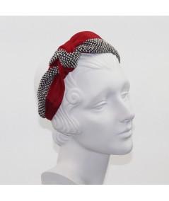 Cardinal Bengaline and Spectator Boucle Side Turban Headband
