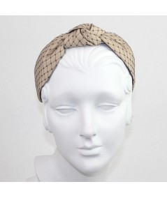 Nude Satin Covered Black Veiling Blair Headband