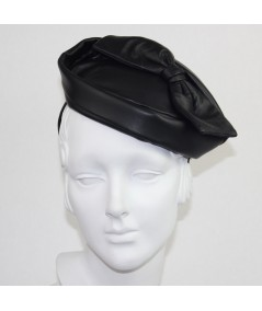 Leather Betty Headpiece Fascinator