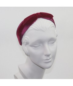 Wine Bengaline & Dark Red Velvet Bow Headband
