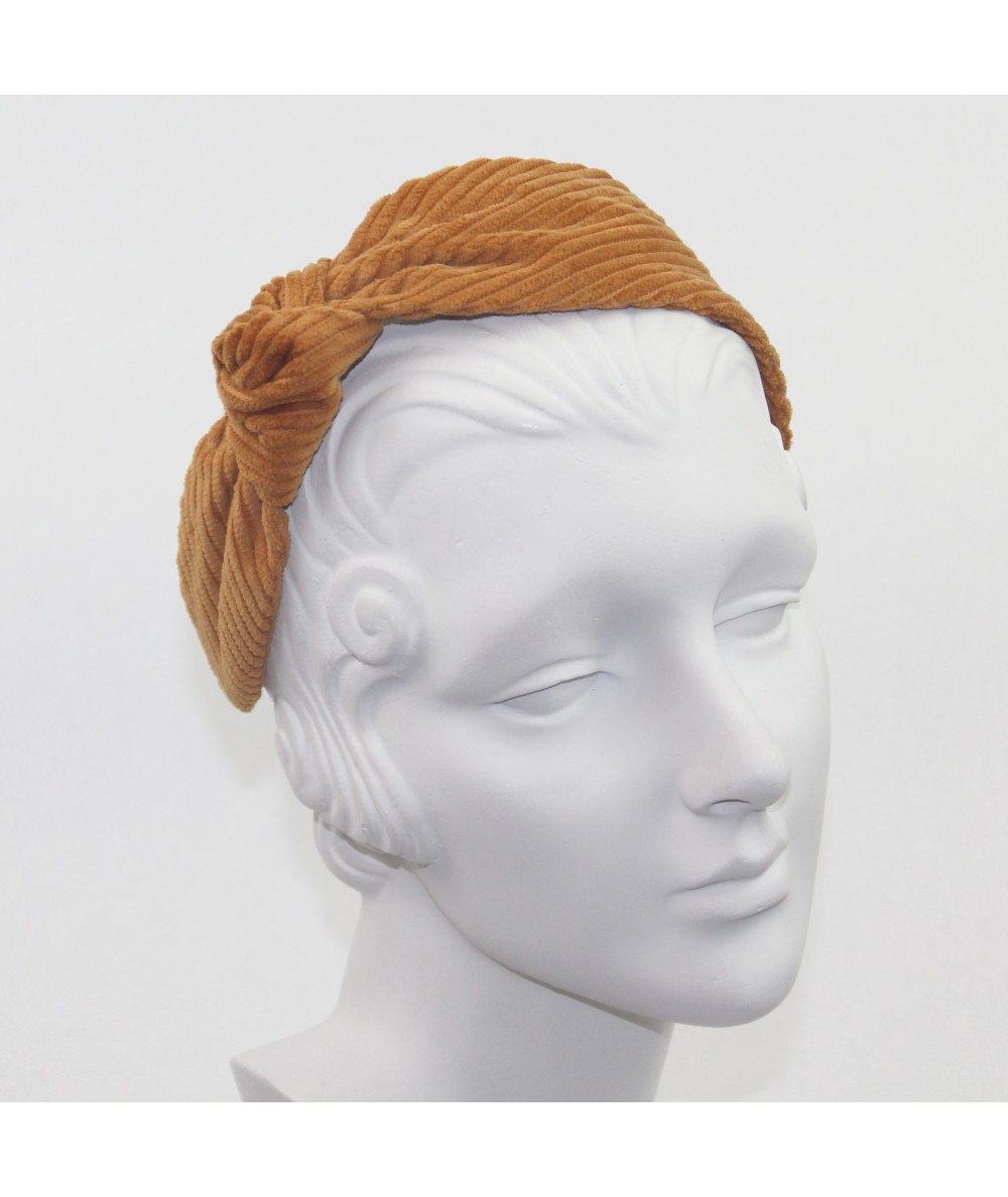 Amber Corduroy Side Turban Headband