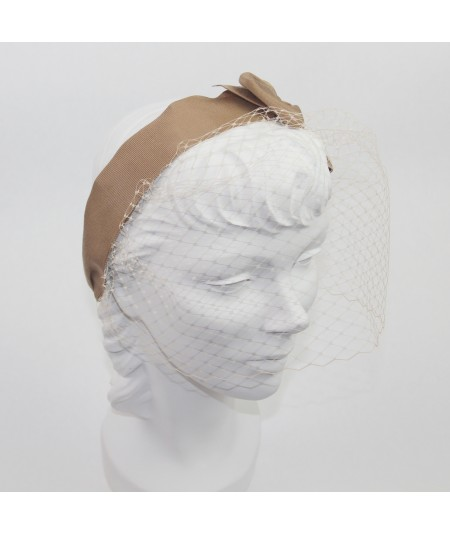 Pecan Side Bow Face Veil
