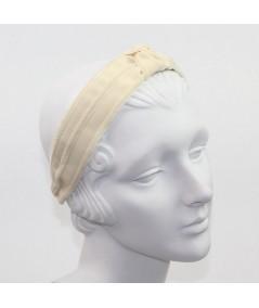 Cream with Eggshell Turban Headband