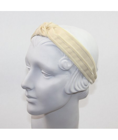 Cream with Eggshell Turban Headband