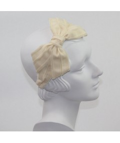 Cream with Eggshell Bow Headband