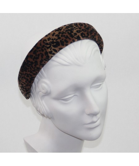 Leopard Velvet Medium Padded Headband