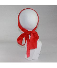 Red basic-extra-wide-satin-headband-with-long-ties-Katie-Holmes