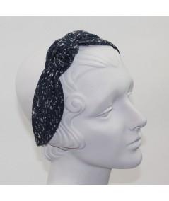 Indigo Clouds Wool Side Turban Headband