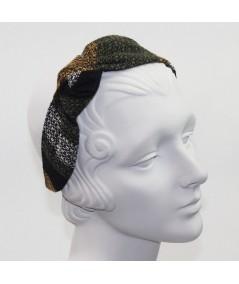 Winter Stripe Wool Side Turban Headband