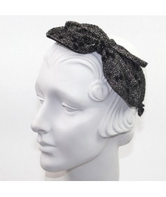 Winter Dots Boucle or Tweed Side Bow Headband
