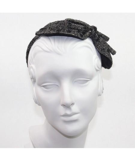 Winter Dots Boucle or Tweed Side Bow Headband