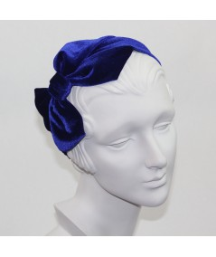 Royal Velvet Headband with Loop Bow at Side