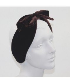 Velvet Center Bow Earmuff