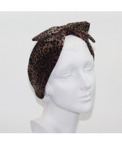 Leopard Velvet Winter Earmuff