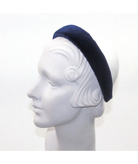 Navy Velvet Medium Padded Headband