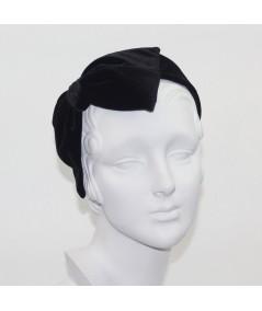 Black Velvet Large Bow Headpiece