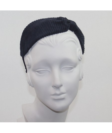 Navy headband corduroy