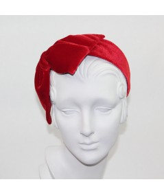 Red Velvet Large Bow Headpiece