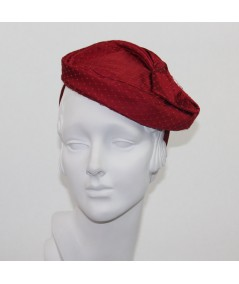Betty Satin and Veiling Headpiece Fascinator