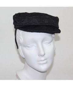 Textured Cap Headpiece Fascinator