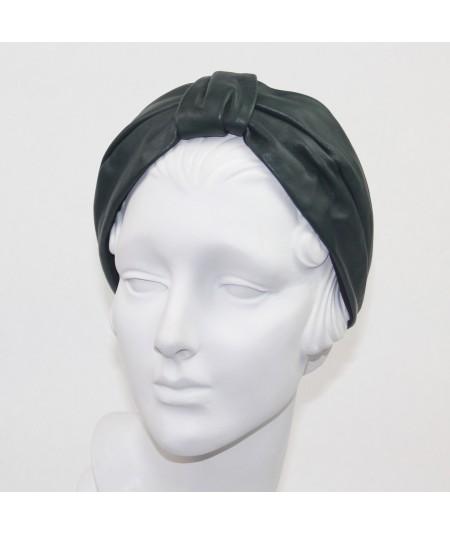 Forest Leather Draper Turban Headband