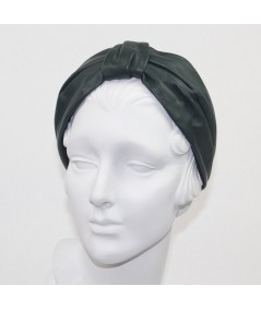 Forest Leather Draper Turban Headband