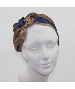 Brown Mix Turban Headband by Jennifer Ouellette