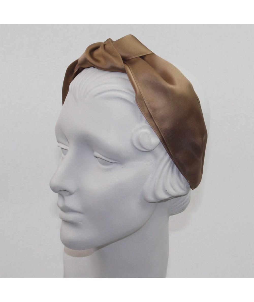Sable Satin Turban Headband