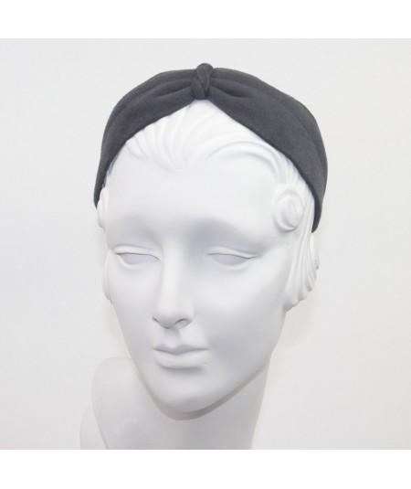 Medium Grey Felt Center Turban Headband