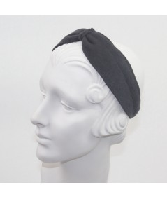 Medium Grey Felt Center Turban Headband
