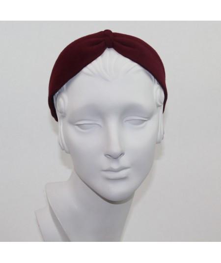 Wine Felt Center Turban Headband