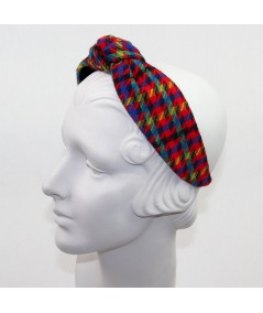 Tweed Checkers Print Blair Turban