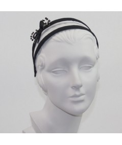 Grosgrain Double Headband with Cosmic Spray