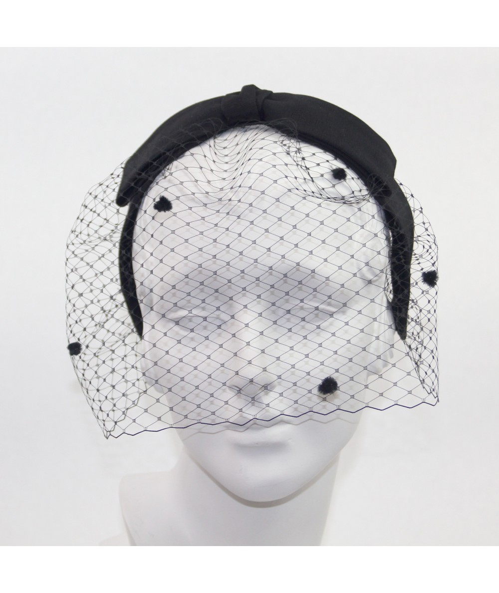 Bengaline Bow with Dotted Face Veil