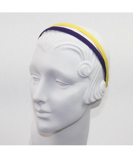 Purple Yellow Grosgrain Basic Skinny Headband
