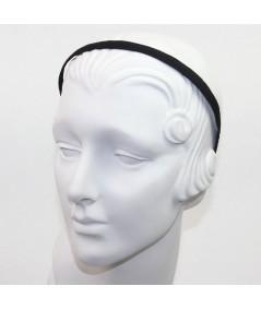 Black Grosgrain Basic Skinny Headband