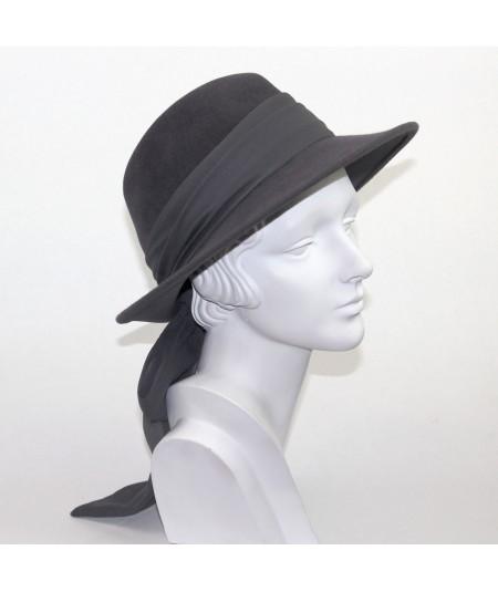 Medium Grey women's fedora with sash