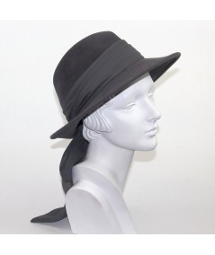 Medium Grey women's fedora with sash